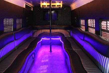 Limousine Buses Interior Party Area