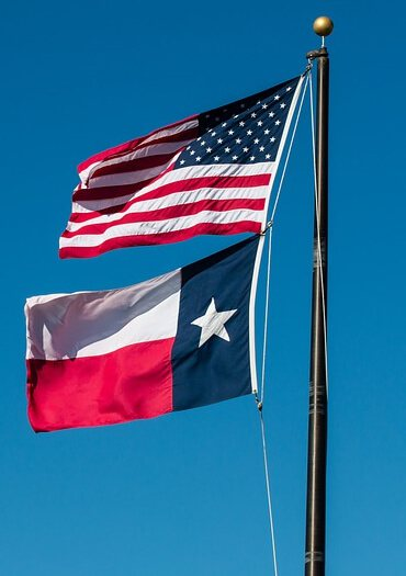 American & Texas Flags